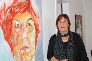 Elisabeth Kallinger mit Selbstportrait