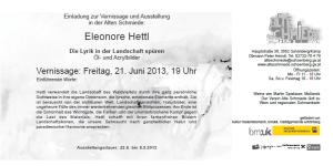 Einladung Hettl, Alte Schmiede
