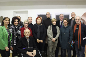 Die Künstlerinnen und KÜnstler der Ausstellung »mixed media« und Gäste