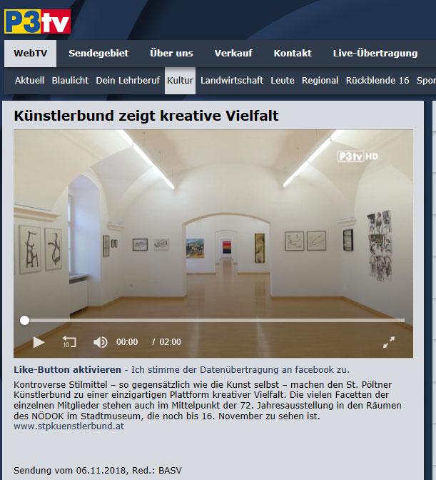 P3TV-Trailer 72. Jahresausstellung