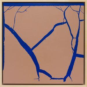 Ernest A. Kienzl, found abstracts blau, 2017