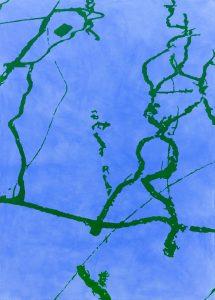 Ernest A. Kienzl, tarred cracks blau | grün 2, 2018
