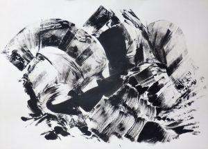 """Anton Ehrenberger, aus dem Zyklus """"Eisernes Tor"""" IV, Tusche auf Papier, 84x60cm"""