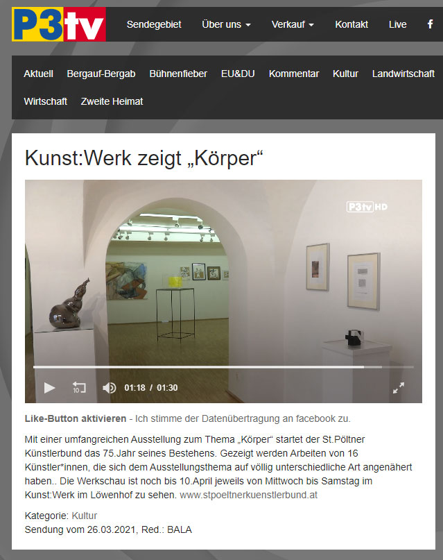 """Still aus dem Beitrag """"KÖRPER"""" im P3TV"""