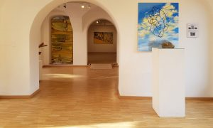 Ausstellung abstrakt : konkret - Ehrenberger, Kienzl, Schönthaler (vrnl)